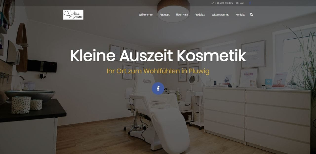 Website Kleine Auszeit von textmarka